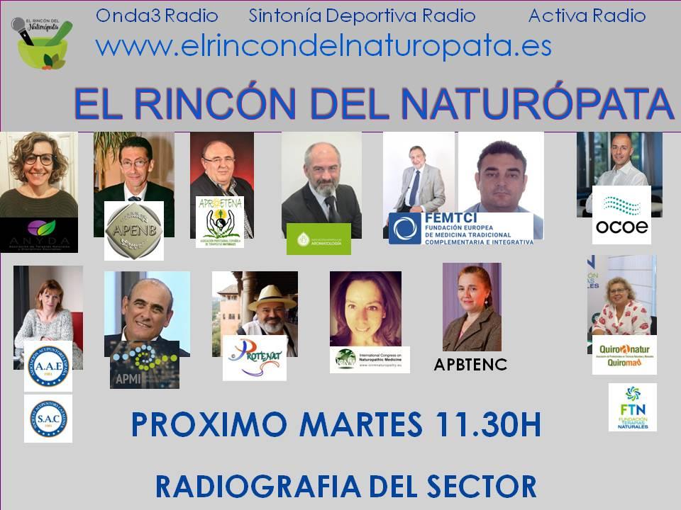 14 asociaciones de terapias naturales por 1ª vez juntas en El Rincón del Naturópata